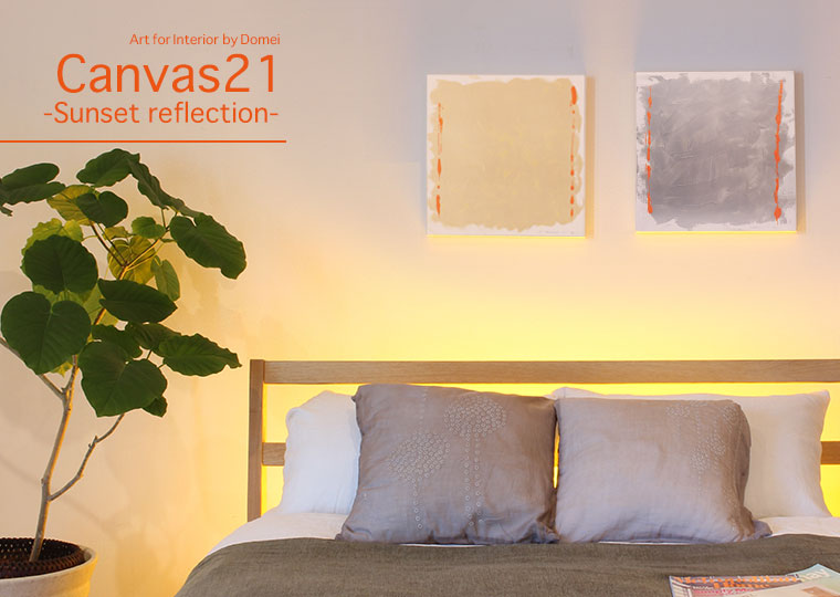 Art for interior Canvas21-Sunset reflection-