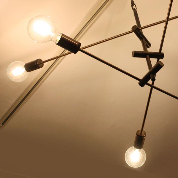 LED Cardinal pendant lamp black